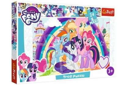 Trefl 14269 - My Little Pony - Vidám pónik - 24 db-os Maxi puzzle
