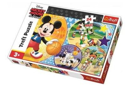 Trefl 14291 - Mickey egér sportol - 24 db-os Maxi puzzle