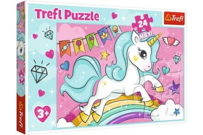 Trefl 14302 - Édes unikornis - 24 db-os Maxi puzzle