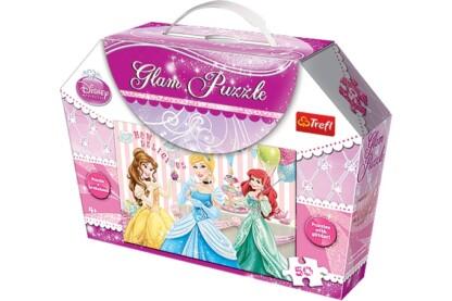 Trefl 14802 - Disney Princess - 50 db-os Csillámos puzzle