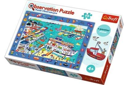 Trefl 15536 - Keresd a képet - A kikötőben - 70 db-os puzzle