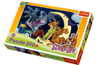 Trefl 16197 - Scooby-Doo - Scooby, Shaggy és a vidám szellem - 100 db-os puzzle