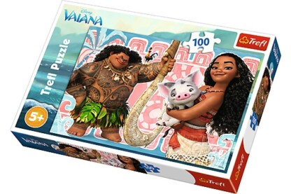 Trefl 16298 - Vaiana és barátai - 100 db-os puzzle