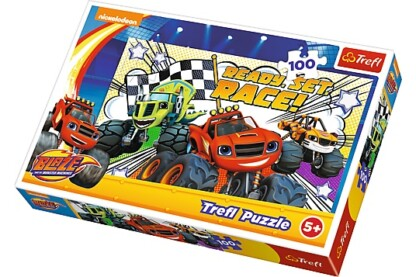 Trefl 16301 - Láng és a szuperverdák - Versenyre készen - 100 db-os puzzle