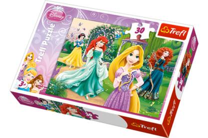 Trefl 18172 - Disney hercegnők - Rapunzel, Merida, Ariel és Hófehérke - 30 db-os puzzle