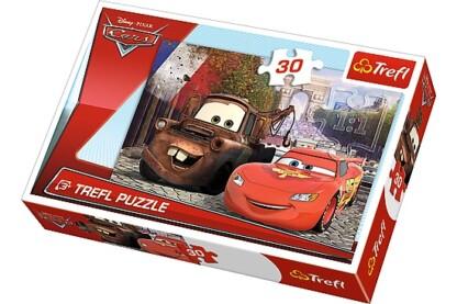 Trefl 18206 - Verdák - Matuka és Villám Európában - 30 db-os puzzle