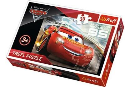 Trefl 18215 - Verdák 3 - Villám McQueen - 30 db-os puzzle