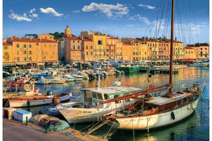 Trefl 26130 - Régi kikötő, Saint Tropez - 1500 db-os puzzle