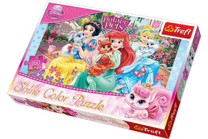 Trefl 30007 - Disney Princess - Palota kedvencei - 160 db-os Shine Color puzzle