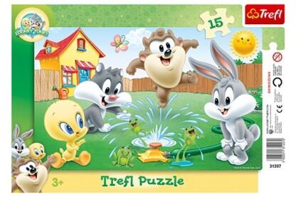 Trefl 31207 - Looney Tunes - Játék a kertben - 15 db-os keretes puzzle
