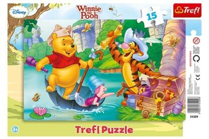 Trefl 31209 - Micimackó és barátai - Kincsvadászat - 15 db-os keretes puzzle