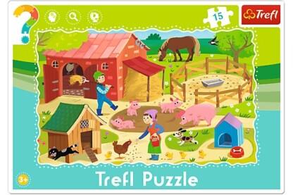 Trefl 31216 - A farmon - 15 db-os keretes puzzle
