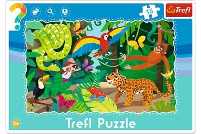 Trefl 31219 - A dzsungelben - 15 db-os keretes puzzle