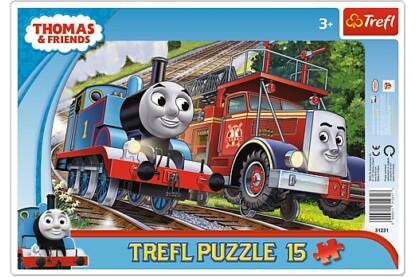 Trefl 31231 - Thomas és barátai - 15 db-os keretes puzzle