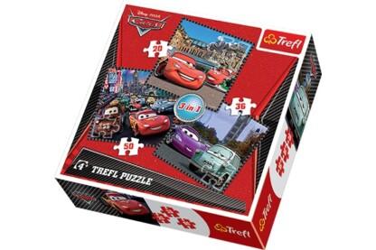 Trefl 34105 - Verdák 2. Körutazás Európában - 3 az 1-ben (20, 36, 50 db-os) puzzle
