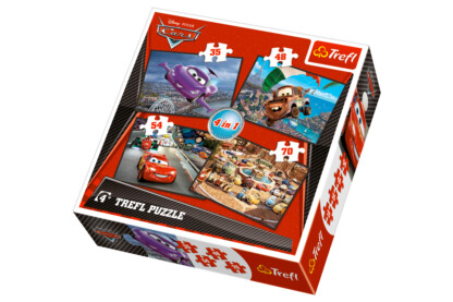 Trefl 34107 - Verdák 2. - 4 az 1-ben (35, 48, 54, 70 db-os) puzzle
