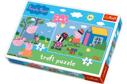 Trefl 34128 - Peppa Malac - 2 az 1-ben (24, 48 db-os) puzzle