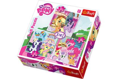 Trefl 34190 - My Little Pony - 3 az 1-ben (20, 36, 50 db-os) puzzle