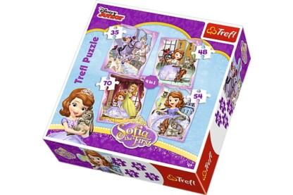 Trefl 34247 - Szófia hercegnő - 4 az 1-ben puzzle (35,48,54,70 db-os) puzzle