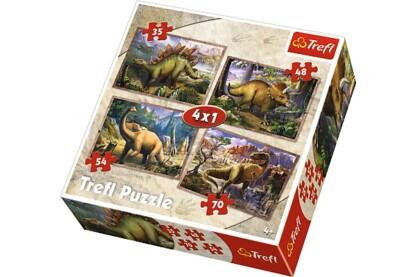 Trefl 34249 - Dinoszauruszok - 4 az 1-ben (35, 48, 54, 70 db-os) puzzle