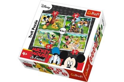 Trefl 34261 - Mickey Mouse és barátai - Móka a parkban - 4 az 1-ben (35, 48, 54, 70 db-os) puzzle