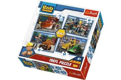 Trefl 34270 - Bob, az építő - 4 az 1-ben (35, 48, 54, 70 db-os) puzzle