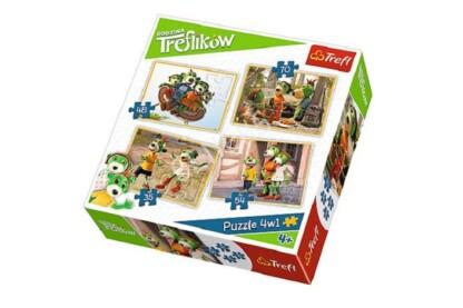 Trefl 34271 - A Treflikow család kalandjai - 4 az 1-ben (35, 48, 54, 70 db-os) puzzle