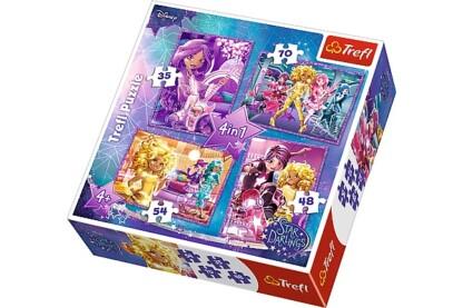 Trefl 34275 - Star Darlings - Csillag barátok - 4 az 1-ben (35, 48, 54, 70 db-os) puzzle