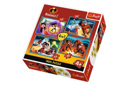 Trefl 34306 - Hihetetlen család - 4 az 1-ben (35, 48, 54, 70 db-os) puzzle