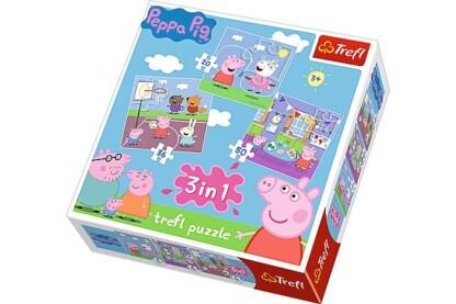 Trefl 34813 - Peppa malac -  3 az 1-ben (20,36,50 db-os) puzzle