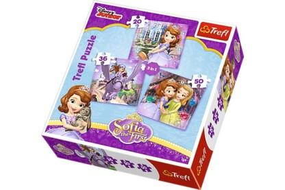 Trefl 34814 - Szófia hercegnő - 3 az 1-ben (20,36,50 db-os) puzzle
