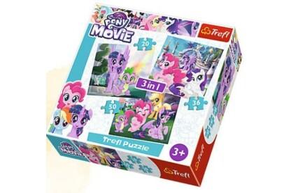 Trefl 34823 - My Little Pony - 3 az 1-ben (20, 36, 50 db-os) puzzle
