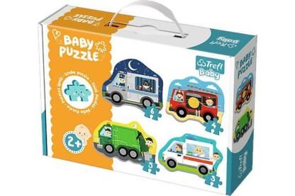 Trefl 36071 - Járművek - Első Baby puzzle táskában
