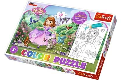 Trefl 36515 - Szófia hercegnő - 20 db-os Színezhető kétoldalas puzzle