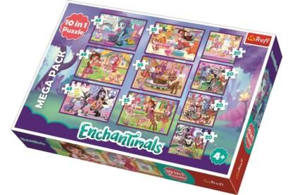 Trefl 90354 - Enchantimals - Kalandok - 10 az 1-ben (20,35,48 db-os) puzzle - Értékcsökkent