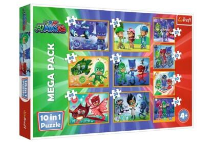 Trefl 90357 - PJ Masks - Pizsihősök - 10 az 1-ben (20,35,48 db-os) puzzle