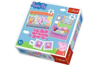 Trefl 90600 - Peppa Malac- 2 az 1-ben puzzle és memóriajáték