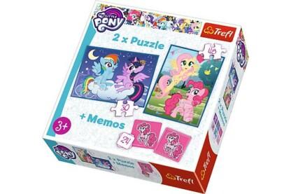 Trefl 90601 - My Little Pony - 2 az 1-ben puzzle és memóriajáték