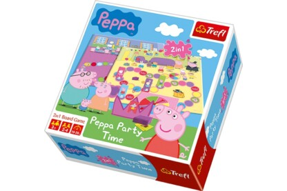 Trefl 01234 - Peppa malac - Szülinapi party 2 az 1-ben társasjáték