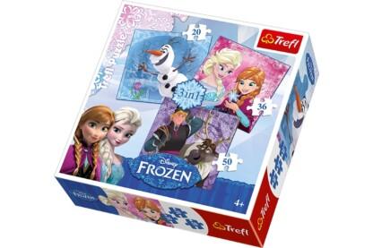 Trefl 34810 - Jégvarázs hősök - 3 az 1-ben (20, 36, 50 db-os) puzzle