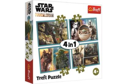 Trefl 34377 - Mandalorian - 4 az 1-ben puzzle (35,48,54,70 db-os)