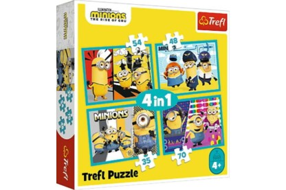 Trefl 34339 - Minyonok 2 - 4 az 1-ben puzzle (35,48,54,70 db-os)