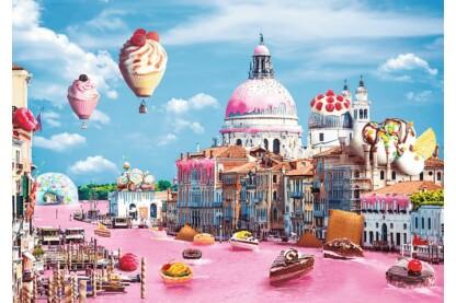 Trefl 10598 - Funny Cities - Édességek Velencében - 1000 db-os puzzle
