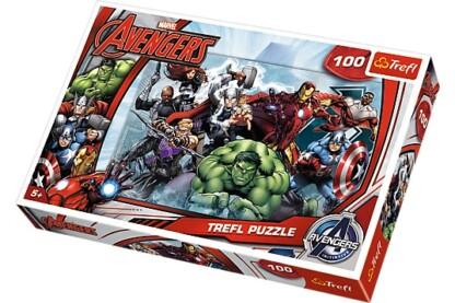 Trefl 16272 - Avengers - Bosszúállók - Támadás - 100 db-os puzzle