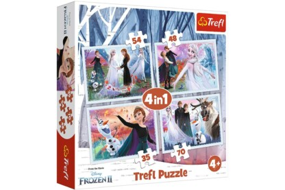 Trefl 34344- Jégvarázs 2 - A mágikus erdőben - 4 az 1-ben (35, 48, 54, 70 db-os) puzzle