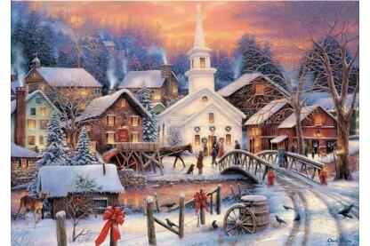 Trefl 10602 - Fehér Karácsony - 1000 db-os puzzle