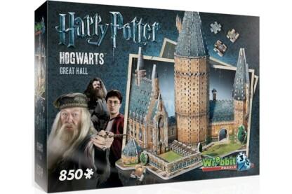 Wrebbit 02014 - Harry Potter - Roxforti nagyterem - 850 db-os 3D puzzle