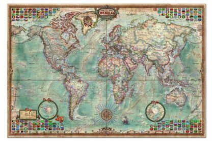Educa 14827 - Történelmi világtérkép - 4000 db-os puzzle
