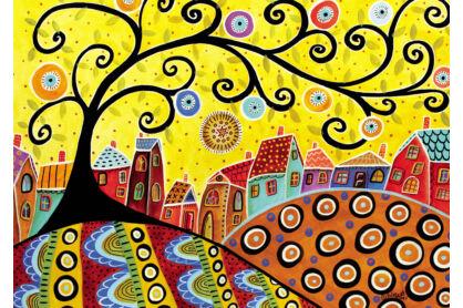 Educa 16296 - Virágzó falu - Karla Gerard - 1000 db-os puzzle
