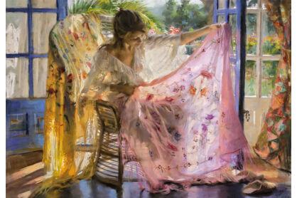 Educa 16314 - Rózsaszín kendő - Vincente Romero - 2000 db-os puzzle